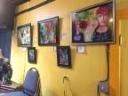 Art wall at The Black Dog
